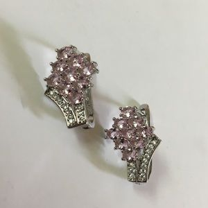 Pink Kunzite, 925 Silver Earrings